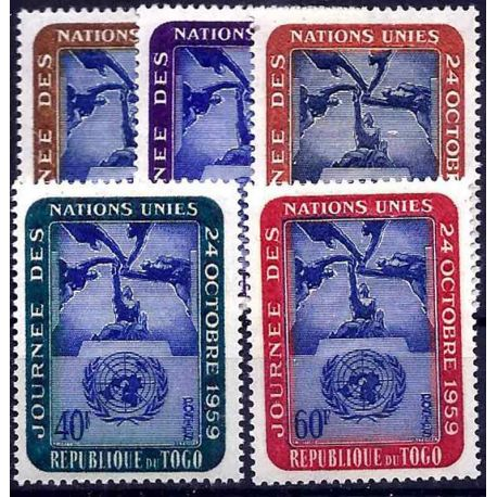 Timbre collection Togo N° Yvert et Tellier 295/299 Neuf sans charnière