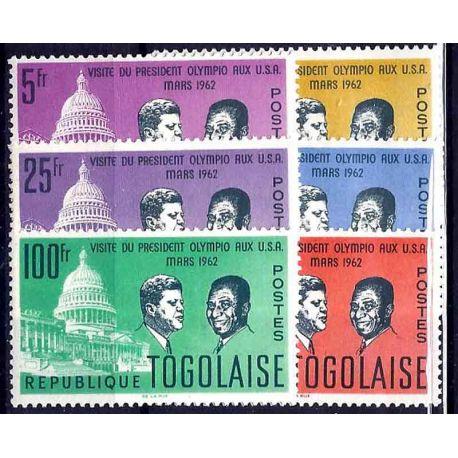 Francobollo raccolta Togo N° Yvert e Tellier 365/370 nove senza cerniera