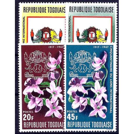 Timbre collection Togo N° Yvert et Tellier 539/542 Neuf sans charnière