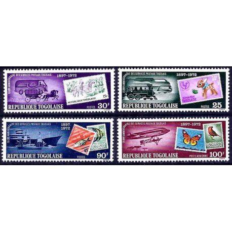 Francobollo raccolta Togo N° Yvert e Tellier 787/789 + PA 207 nove senza cerniera