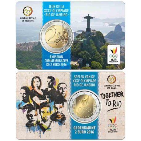 Belgium - 2 euro 2017 - Coincard OJ Rio
