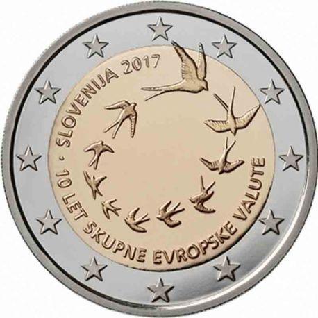 Slowenien - 2 Euro 2017 - 10 Jahre der Einführung des Euro
