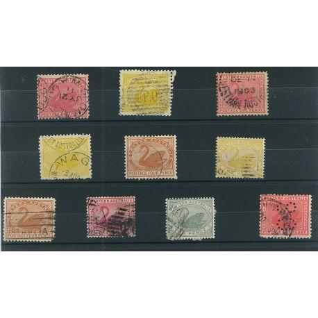 Australien West - 10 verschiedene Briefmarken