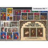 Liechtenstein 1981 Année complète en timbres neufs