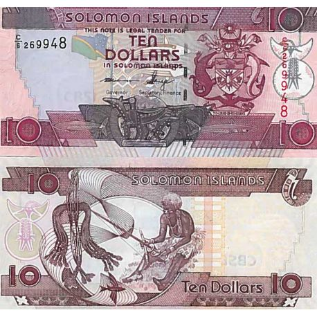 Billets de collection Billet de banque collection Salomon - PK N° 27 - 10 Dollars Billets des Iles Salomon 7,00 €