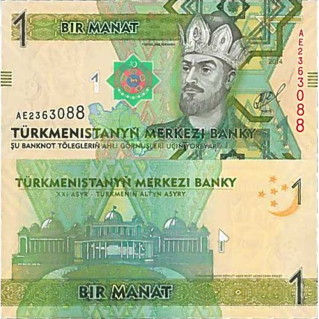 Billets de collection Billet de banque collection Turkmenistan - PK N° 29 - 1 Manats Billets du Turkmenistan 3,00 €