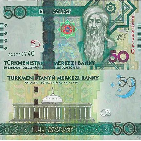 Billets de collection Billet de banque collection Turkmenistan - PK N° 33 - 50 Manats Billets du Turkmenistan 53,00 €