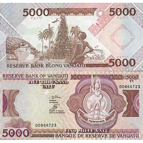 Billet de banque collection Vanuatu - PK N° 12 - 5 000 Vatu