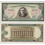 Banconote Chile Pick numero 140 - 50 Peso 1962