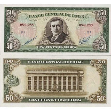 Chile - Pk # 140 - 50 Note Escudos