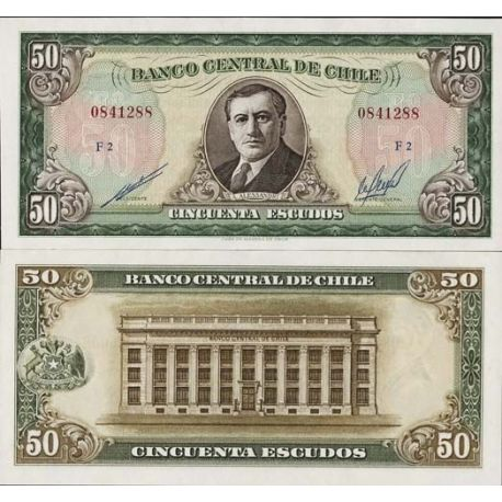 Billet de collection Chili Pk N° 140 - 50 Escudos