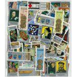 Sammlung gestempelter Briefmarken der Jemen