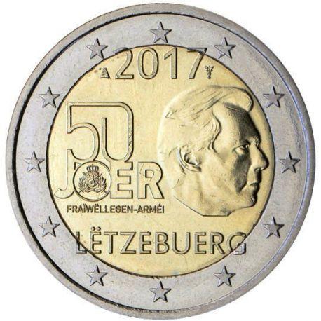 Lussemburgo - 2 euro 2017 - servizio militare volontario