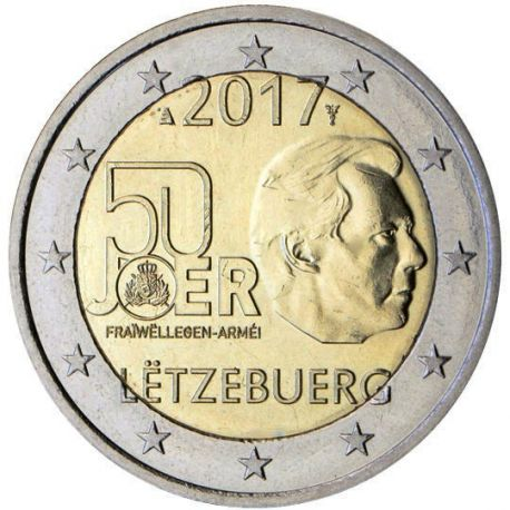 Luxembourg - 2 euro 2017 - Service Militaire Volontaire