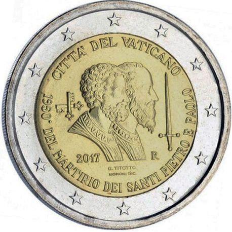 Vaticano - 2 euro 2017 - St Pierre St Paul in libretto