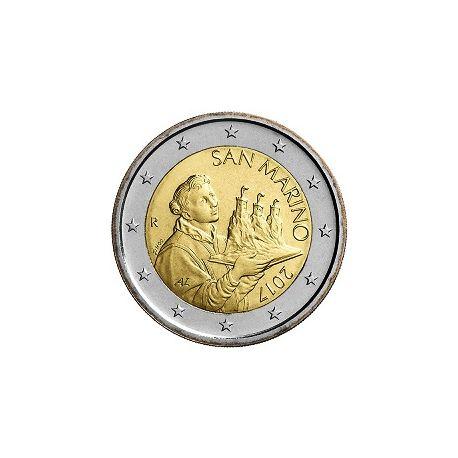 San Marino - 2 euro 2017 - San Marino che porta i tre giri