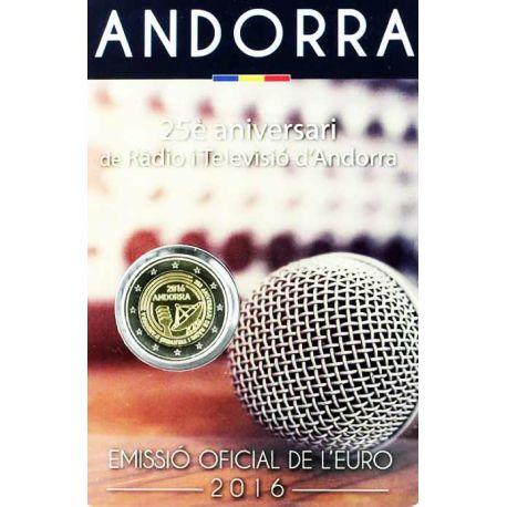 Andorre - 2 euro 2017 - 25 ans de la Radio Télévision d'Andorre