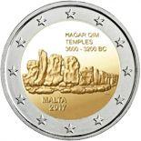 Malte - 2 euro 2017 - Temple Hagar Qim