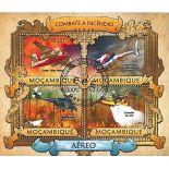 Bloc de 4 timbres Les Pompiers de l'Air