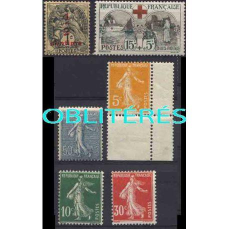 Francia anno completo 1918.21 francobolli annullati