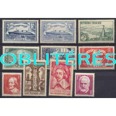Francia anno completo 1935 francobolli annullati