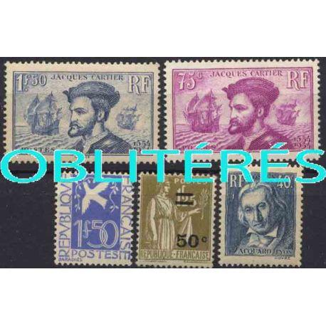 Francia anno completo 1934 francobolli annullati