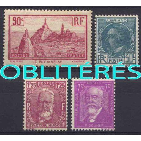 Francia anno completo 1933 francobolli annullati