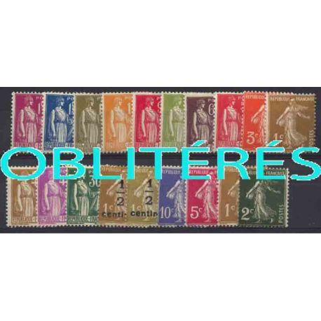 Francia anno completo 1932 francobolli annullati