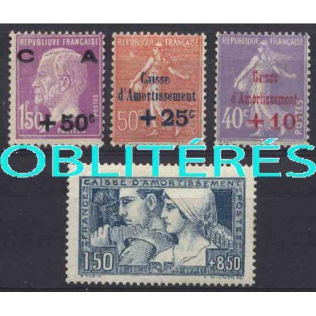 Francia anno completo 1928 francobolli annullati