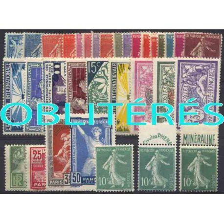 Francia anno completo 1924 francobolli annullati
