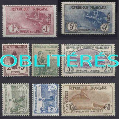 Francia anno completo 1917 francobolli annullati