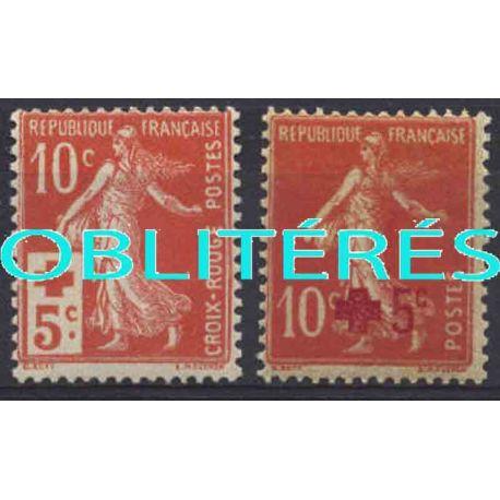 Francia anno completo 1914 francobolli annullati