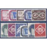 Briefmarkensammlung UNO New York N° Yvert und Tellier 1/11 neun ohne Scharnier