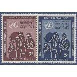 Briefmarkensammlung UNO New York N° Yvert und Tellier 15/16 neun ohne Scharnier