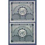 Timbre collection ONU New-York N° Yvert et Tellier 19/20 Neuf sans charnière