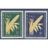 Stamp collection UNO New York N° Yvert and Tellier 23/24 Mint without hinge