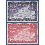 Timbre collection ONU New-York N° Yvert et Tellier 25/26 Neuf sans charnière