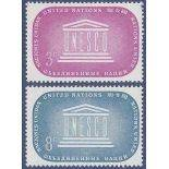 Timbre collection ONU New-York N° Yvert et Tellier 33/34 Neuf sans charnière