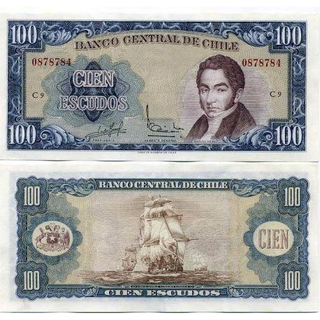 Billets de banque Chili Pk N° 141 - 100 escudos
