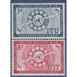 Timbre collection ONU New-York N° Yvert et Tellier 40/41 Neuf sans charnière