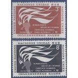 Briefmarkensammlung UNO New York N° Yvert und Tellier 54/55 neun ohne Scharnier