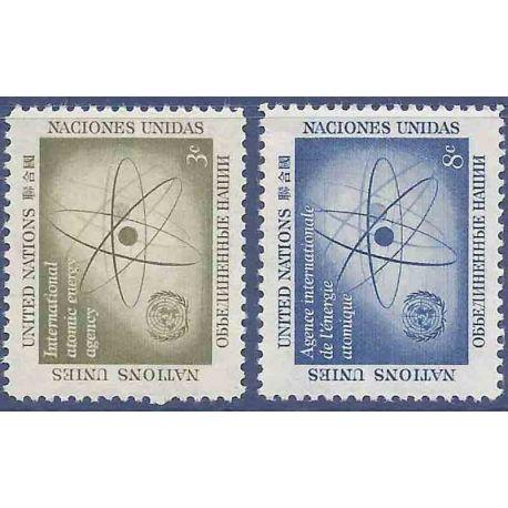 Briefmarkensammlung UNO New York N° Yvert und Tellier 56/57 neun ohne Scharnier