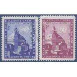 Timbre collection ONU New-York N° Yvert et Tellier 58/59 Neuf sans charnière