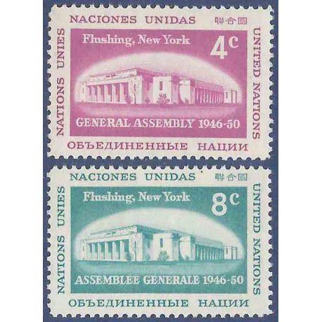 Briefmarkensammlung UNO New York N° Yvert und Tellier 66/67 neun ohne Scharnier