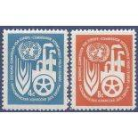 Timbre collection ONU New-York N° Yvert et Tellier 68/69 Neuf sans charnière