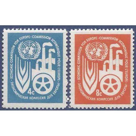 Briefmarkensammlung UNO New York N° Yvert und Tellier 68/69 neun ohne Scharnier