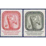 Briefmarkensammlung UNO New York N° Yvert und Tellier 70/71 neun ohne Scharnier