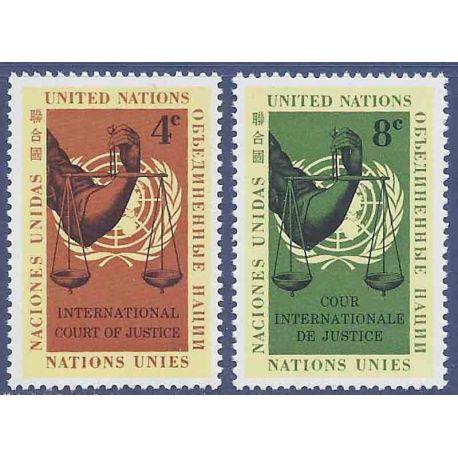 Briefmarkensammlung UNO New York N° Yvert und Tellier 84/85 neun ohne Scharnier