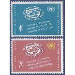 Briefmarkensammlung UNO New York N° Yvert und Tellier 86/87 neun ohne Scharnier