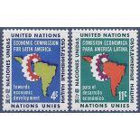 Briefmarkensammlung UNO New York N° Yvert und Tellier 89/90 neun ohne Scharnier